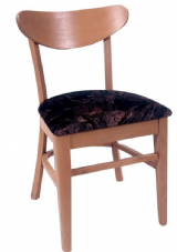 Indio Wooden Open Back Side Chair with Upholstered Seat